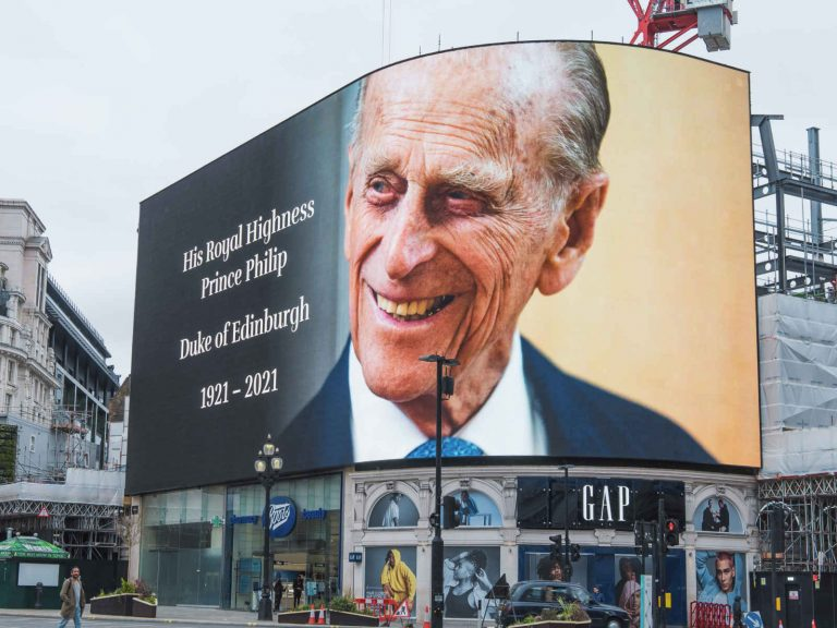 HRH-Price Philip Piccadilly Circus