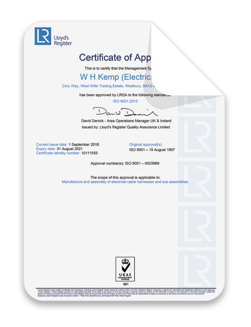 Lr-Cert-2018-2021 Wire Harness Accreditation
