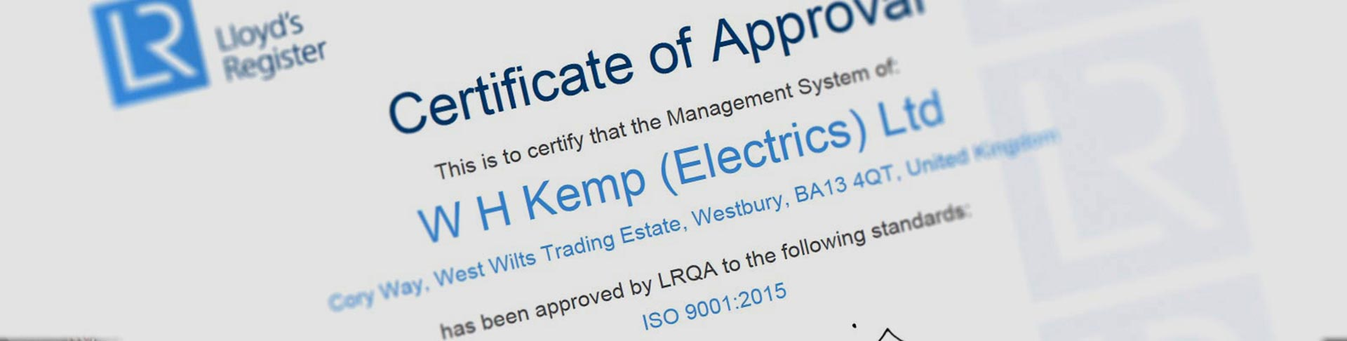 Ul, Iso &Amp; Ipc Wire Harness Accreditations