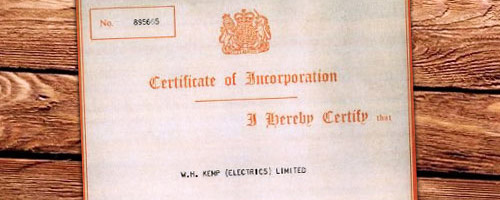 Wh Kemp History Certificate 1967